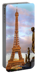 Eiffel Tower At Sunset Portable Battery Charger