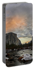 El Capitan At Sunset Portable Battery Charger