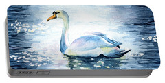 Elegance In Motion - Swan Painting Portable Battery Charger