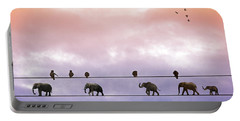 Elephants On The Wires Portable Battery Charger