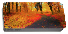 Emmaus Community Park Path - Colors Of Fall Portable Battery Charger