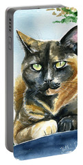 Emmy Tortoiseshell Cat Painting Portable Battery Charger