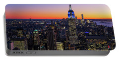 Empire State Building And Lower Manhattan At Sunset Portable Battery Charger