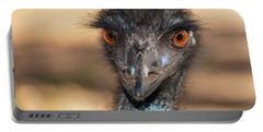 Emu By Itself Outdoors During The Daytime. Portable Battery Charger