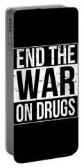 Portable Battery Charger featuring the digital art End The War On Drugs by Flippin Sweet Gear
