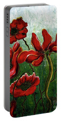 Endless Poppy Love Portable Battery Charger