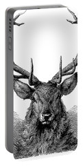 Engraving Of The Head Of A Red Deer, In Which The Antler Is Fully Developed  Portable Battery Charger