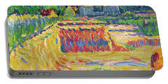 Ernst Ludwig Kirchner -aschaffenburg, 1880-frauenkirch, 1938-. The Loam Pit -ca. 1906-. Oil On Ca... Portable Battery Charger