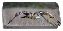 Eurasian Eagle Owl In Flight Portable Battery Charger