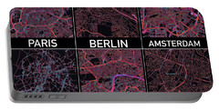 European Capital Cities Maps Portable Battery Charger