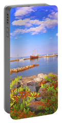 Evening At The York River In Yorktown Virginia Portable Battery Charger
