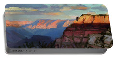 Evening Light At The Grand Canyon Portable Battery Charger