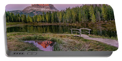 Evening On Lago D'antorno Portable Battery Charger