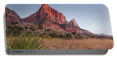 Evening Vista At Zion Portable Battery Charger