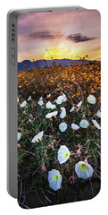 Evening With Primroses Portable Battery Charger