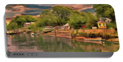 Portable Battery Charger featuring the photograph Everything That I Love About The River by Leigh Kemp