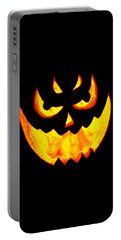 Evil Glowing Pumpkin Portable Battery Charger