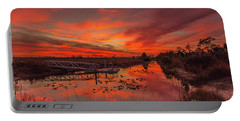 Explosive Sunset At Pine Glades Portable Battery Charger