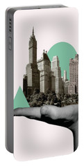 Exquisite Buildings On Palm Portable Battery Charger