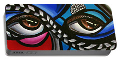Eye Art Painting Abstract Chromatic Painting Electric Energy Artwork Portable Battery Charger