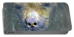 Face Of The Manatee Portable Battery Charger