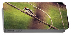 Faded Canvas Woodpecker Portable Battery Charger