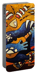 Portable Battery Charger featuring the painting Fajardo Dreaming by Oscar Ortiz