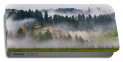 Portable Battery Charger featuring the photograph Fall And Fog In Washington State by Michael Ash