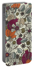 Fall Botanical Art Cream Background Portable Battery Charger