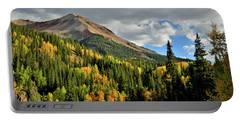 Fall Color Aspens Beneath Red Mountain Portable Battery Charger
