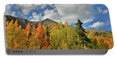 Fall Colored Aspens Bask In Sun At Red Mountain Pass Portable Battery Charger