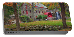 Fall Foliage At The Grist Mill Portable Battery Charger
