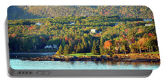 Portable Battery Charger featuring the photograph Fall Foliage In Bar Harbor by Bill Swartwout Fine Art Photography