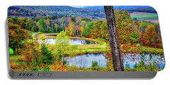 Portable Battery Charger featuring the photograph Fall Memories At The Ponds by Lynn Bauer