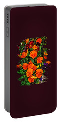 Fall Pansies Portable Battery Charger