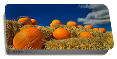 Portable Battery Charger featuring the photograph Fall Pumpkins by Tom Gresham