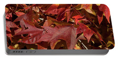 Fall Sweetgum Leaves Df004 Portable Battery Charger