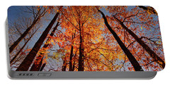 Fall Trees Sky Portable Battery Charger