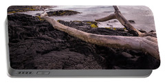Fallen Tree At Punalu'u Beach Portable Battery Charger