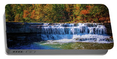 Portable Battery Charger featuring the photograph Falls At The Trailhead Of  Lower Taughannock Falls by Lynn Bauer