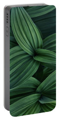 False Hellebore Plant Abstract Portable Battery Charger