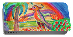 Portable Battery Charger featuring the painting Fantasy Bird by Dobrotsvet Art