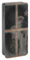 Father Christmas In Window Portable Battery Charger