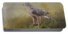 Female Goshawk Paintings Portable Battery Charger