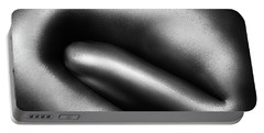 Female Nude Silver Oil Close-up 3 Portable Battery Charger