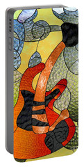 Fender Guitar ..stained Glass Art Work Portable Battery Charger