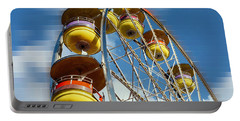 Ferris Wheel On Mosaic Blurred Background Portable Battery Charger