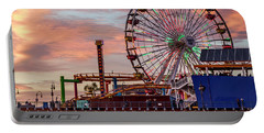 Ferris Wheel On The Pier - Square Portable Battery Charger