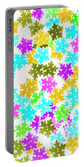 Festive Flakes Portable Battery Charger