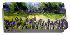 Field Of Irises Portable Battery Charger